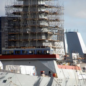 HMS Daring fitting out BAE Scotstoun Glasgow