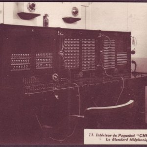 Telephone system on French ship