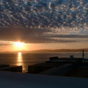 Sunrise off Capetown - from SA Sederberg
