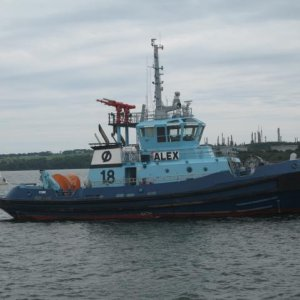 Tug Alex off Whitegate Cork Harbour