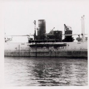 Flora showing midships burnt out