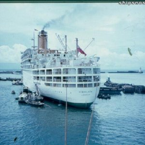 Himalaya tied up astern of us in Colombo