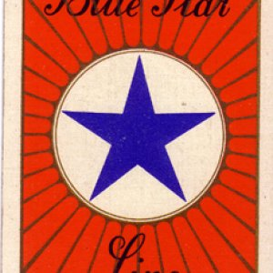 Blue Star Line playing card