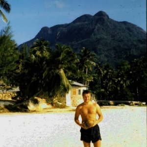 Me in the Seychelles 1961