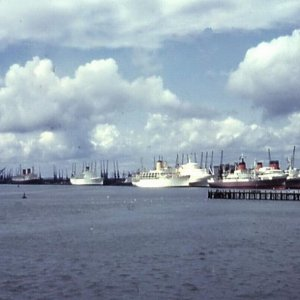 Liners confined to port during the seamen's strike, June 1966
