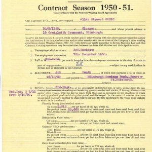 Southern Venturer Contract 1950-51