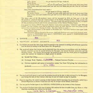 Southern Venturer Contract 1950-51 (part b)