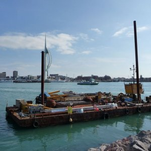 Portsmouth Harbour Workbarge