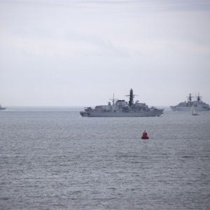 hms cornwall,cambeltown and monmouth