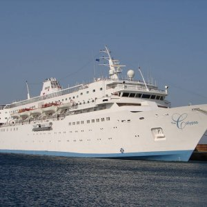 The Calypso in New Port of Tinos