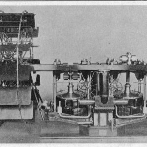Oscillating engine for paddle-wheel steamer.