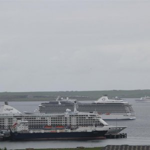 Four ships in Kirkwall Bay