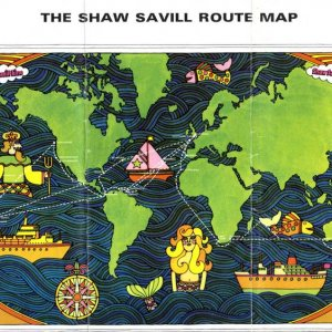 SHAW SAVILL ROUTE MAP