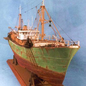 "Model Ship Of a Fishing Trawler ""Hemerica"""