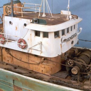 "Model Ship Of Fishing Trawler ""Hemerica"""