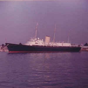 HMY Britannia at Portsmouth 1980