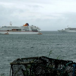 C Columbus & Discovery, Kirkwall Bay, Orkney 18 Aug 2010