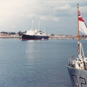 HMY Britannia at Portsmouth