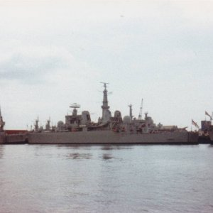 HMS Bristol at Portsmouth