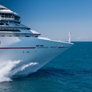 Carnival Magic on sea trials.
