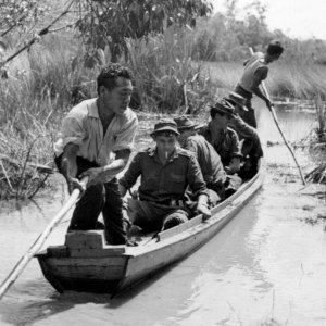 Malaya. Swamp transport.