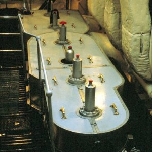 Empire Gull. Engine Room