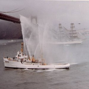 August 1966 Cutter Comanche welcomes the Cutter Eagle to San Francisco