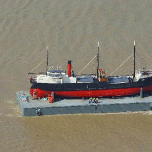SS Robin aerial photograph