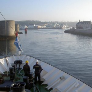 Entering Concarneau