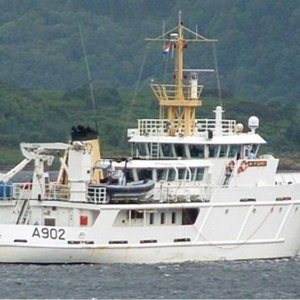 Dutch survey vessel= VAN KINSBERGEN
