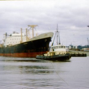 X BANK LINE SHIP  IN THE SHIP CANAL