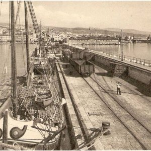 Harbour of Fiume (Rijeka) in the first halt of 1900