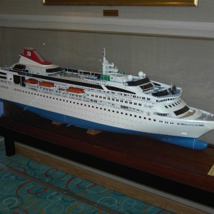 Model of MV Braemar.