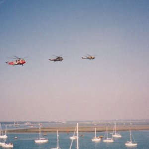 Helo's over Portsmouth