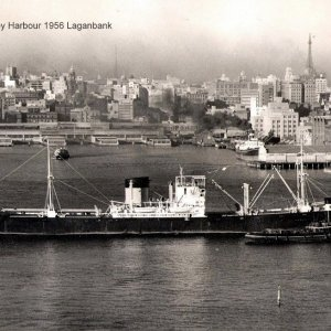 65. Entering Sydney Harbour 1956 Laganbank