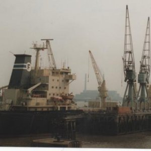 POKKINEN     Nassau   on Imperial Wharf  Northfleet  8th July 1990