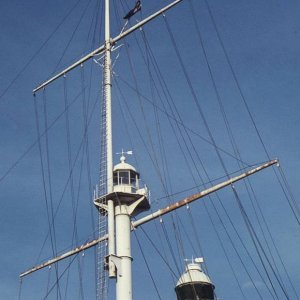 Signal mast & light, Georgetown harbour, Penang