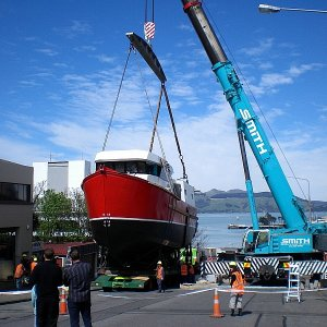 Another trawler leaves Starks shed Lyttelton