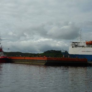 Bamse Tug and Viking Barger at Stornoway