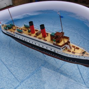 'King George V' model afloat