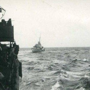 HMAS Nestor going down