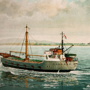 HERTA ,off Tramore,Ireland-painting by frits