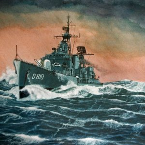 H.M.N.S.Rotterdam-painting by frits