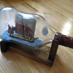 Sailing Barge in a Bottle