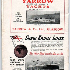 Shaw Savill and yarrow yachts advert.