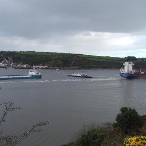 C2C ASTRALIS Ferry TINTERN & FOKKO IKENA at anchor Passage East