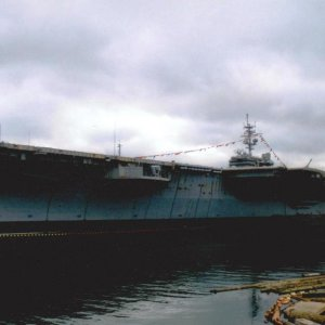 Retired USS Kitty Hawk