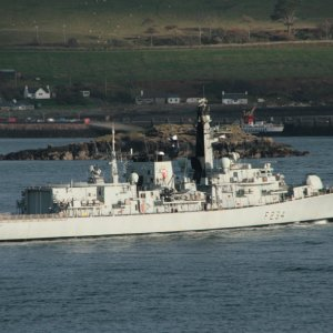 Hms Iron Duke in the sound of Raasay