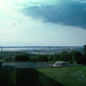 Warsash, view from Hudson 5 1975, Tide out