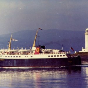 CALEDONIA passing Lismore Lighthouse